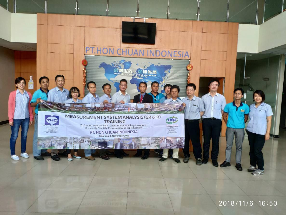 Training Measurement System Analysis (Gage R&R) di PT. Hon Chuan Indonesia