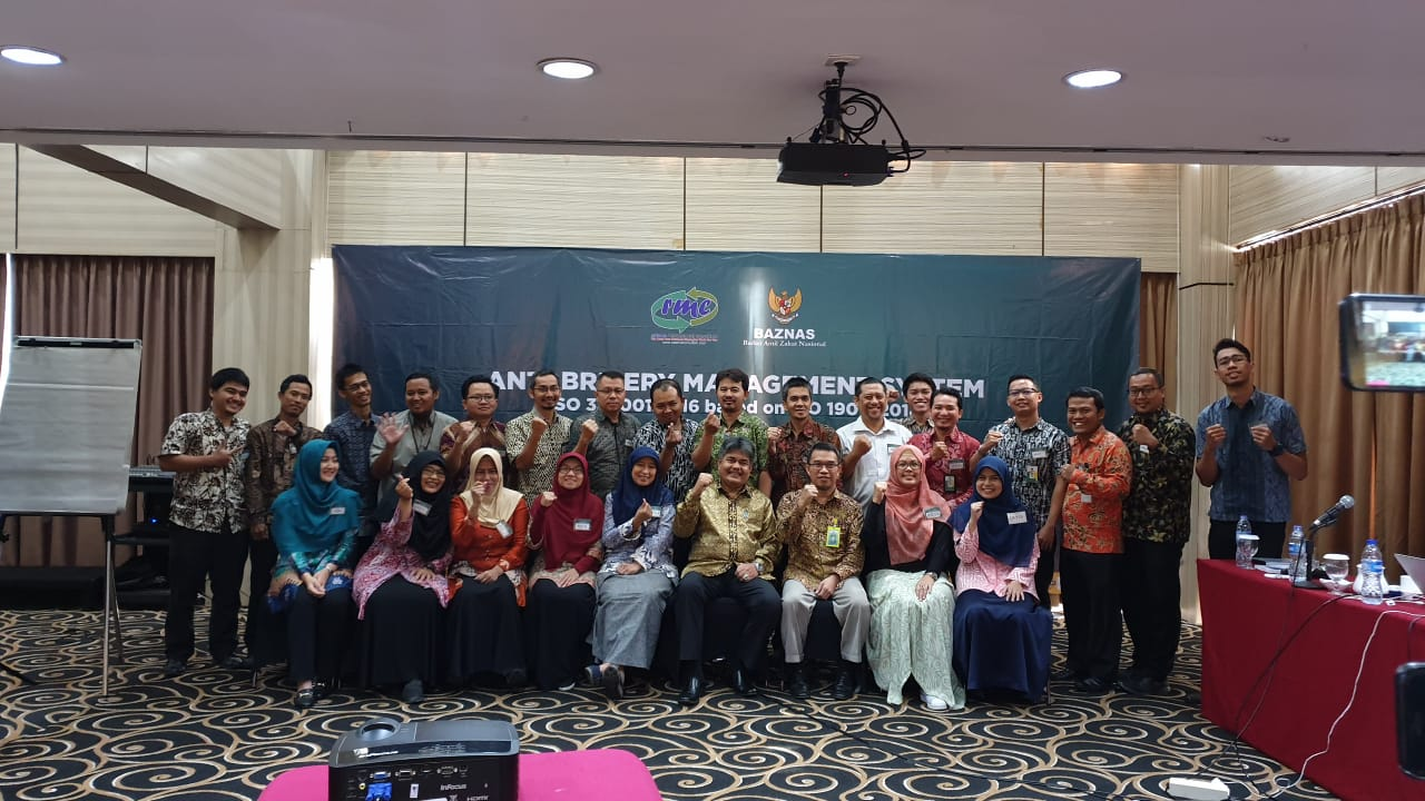 Training Anti-Bribery Management System ISO 37001:2016 di BAZNAS Jakarta
