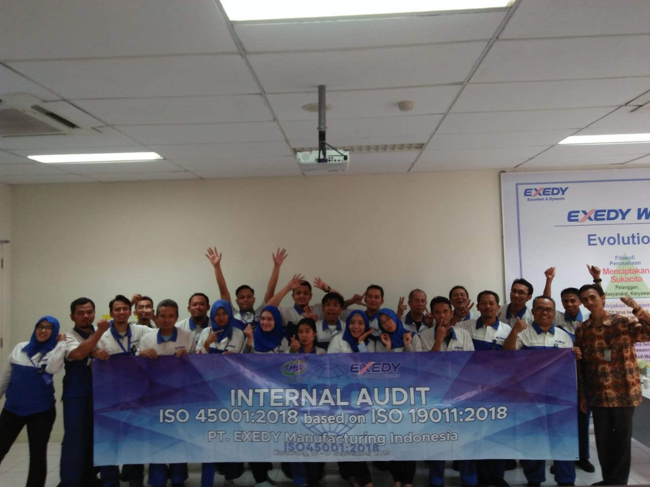 Training Internal Audit ISO 45001:2018 based on ISO 19011:2018 PT Exedy Manufacturing Indonesia